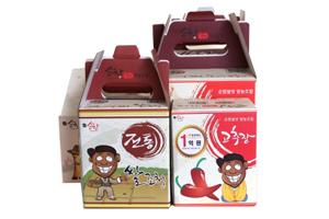 순창 장류 및 쌀엿 선물용 박스